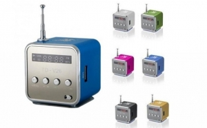 Mini Boxa Portabila Cu MP3 Player - Slot card / USB si Radio Fm, doar la 38 RON in loc de 79 RON