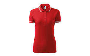 Tricou dama, model polo, rosu