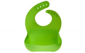 Bavetica flexibila din silicon pentru bebelusi, baveta bebe din cauciuc, moale, usor de curatat, antimurdarire, Maxx, verde