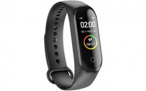 Bratara Fitness M4S, BT, monitorizare somn, culoare negru