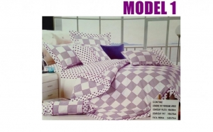 Lenjerie de pat la doar 99 RON n loc de 199 RON, material textil fin, bumbac, calitate superioara, 4 piese in fiecare cutie , 4 modele diferite
