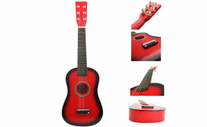 Chitara din lemn creata special pentru copii