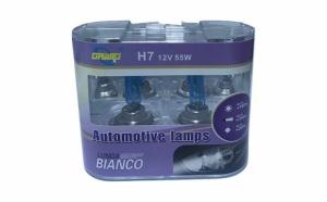 Set 2 x Bec Auto 12V, 55W H7 Halogen, White +110%, Alb-rece
