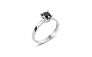 Inel argint cu zirconiu negru