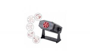 Proiector laser cu efect de stroboscop, 5 modele, negru