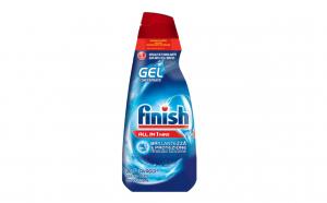 Detergent de vase gel pentru masina de spalat Finish All in One Max Regular, 650 ml