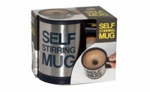 Cu o simpla apasare de buton puteti prepara bautura perfecta: Cana fermecata Self Stirring Mug, la 29 RON in loc de 79 RON