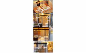Casuta de asamblat pentru copii, decorativa, cu mobilier diy, 3d