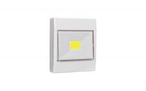 Lampa de veghe cu led si baterii, prevazuta cu autocolant, magneti si comutator