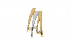 Pandantiv din aur 14K cu 3 diamante, PAU51