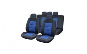 Huse scaune auto compatibile SKODA Rapid 2012-2019 PLUX (Negru + Albastru)