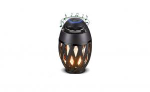 Boxa bluetooth tip felinar cu lumina tip flacara, wireless, baterie reincarcabila