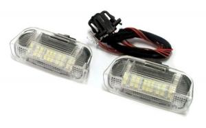 Lampi cu LED Portiera Fata VW, SEAT, SKODA Alb