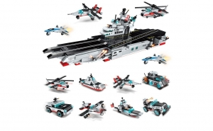 Set constructie tip lego 8 in 1 - Warships - 643 piese