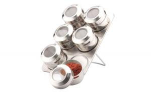 Set condimente din inox - dreptunghiular