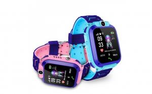 Ceas smartwatch copii Q12 kids, sim, full touchscreen, localizare lbs, sos, blue