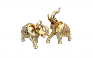 Set decorativ 2 elefanti, 30 cm, 555E