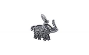 Pandantiv Argint 925 Elefant Filigran Oxidat + Snur Martisor