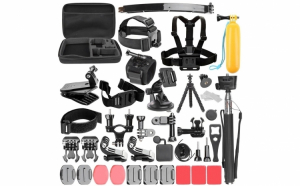 Set 50 in 1 accesorii GoPro + geanta transport inclusa