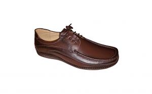 Pantofi cu lira din piele naturala, romanesti
