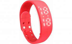 Bratara fitness W2M, Pedometru 3D, distanta, calorii, alarma, Vivo, rosu