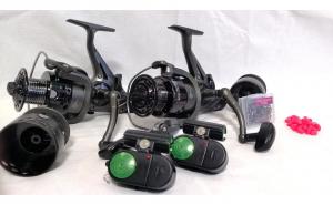 Set Carp Fishing 2 Mulinete ,2 senzori  + 2 Cadouri
