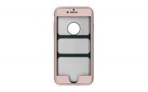 Husa Apple iPhone 6 Plus Flippy Full Silicone 360 Auriu + Folie de protectie