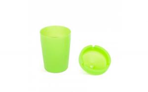 Scrumiera - fosforescenta - verde - 110 mm