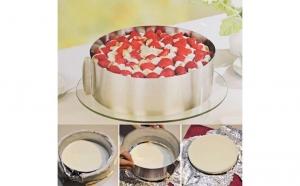 Forma reglabila pentru tort, diametru 16-20 CM, acum la pretul de 39 RON in loc de 99 RON.