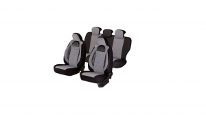 Huse scaune auto BMW SERIA 3 E 46  1997-2005  dAL Racing  Gri/Negru,Piele ecologica + Textil