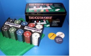 Set Poker COMPLET 200 chips + 2 x carti, Board Games