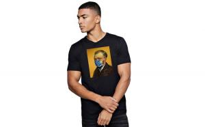 Tricou barbati negru - Van Gogh in Pandemie