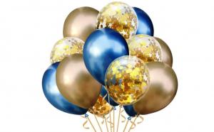 Set de 12 baloane chromate petrecere