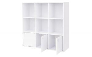 Biblioteca/Raft depozitare cu 3 usi pentru locuinta/birou Alb