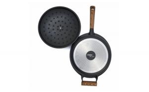 Tigaie adanca aluminiu + capac, 28 x 8.5 cm, 4.5L, Taste of Home by Chef Sorin Bontea