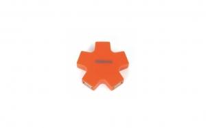 Hub USB 4 porturi Omega OUH24SO, tip stea, portocaliu, la doar 24.9 RON in loc de 49.9 RON