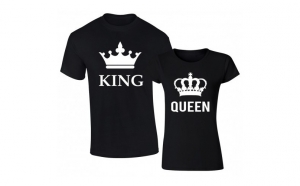 Set de tricouri negre King/Queen big