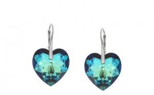 Cercei Heart Leverback Mini Bermuda Blue