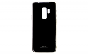 Husa Glass Case - Samsung S9 Plus, Negru