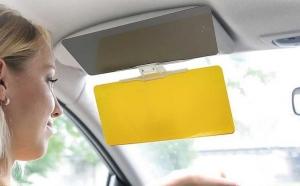 Prinde oferta de Parasolar auto HD Vision Visor cu functie pentru zi / noapte, la 48 RON in loc de 149 RON