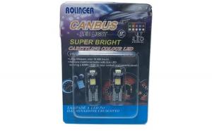 Set 2 Bec Led-T10, CanBus , Rolinger Super Bright, Pozitie-Plafon, 12V , Alba Rece