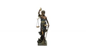 Statueta reprezentand justitia  20x72 cm