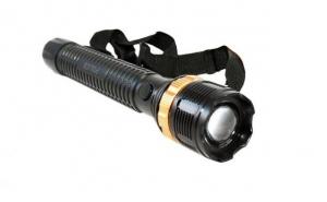 Lanterna Lunga Police LED F187 Cu Lupa , Reglaj Zoom si Flash C140, la doar 20 RON in loc de 45 RON