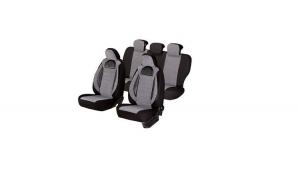 Huse scaune auto FIAT PANDA  2000-2010  dAL Racing  Gri/Negru,Piele ecologica + Textil