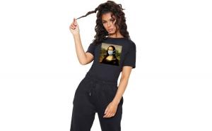 Tricou dama negru - Mona Lisa in