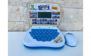Laptop educational copii, 32 lectii in Limba Engleza, cu display LCD si mouse muzical