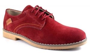 Pantofi barbatesti Bordo piele intoarsa, Incaltaminte piele