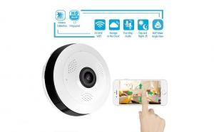 Mini camera panoramica IP, cu unghi de filmare de 360 de grade