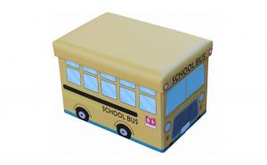Taburet pliabil cu spatiu de depozitare, pentru copii, 48 x 32 x 32 cm, SWBSA Grunberg TB64SB