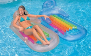 Saltea gonflabila cu spatar pentru adult